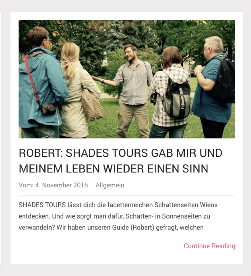 Statement der SHADES TOURS Guides
