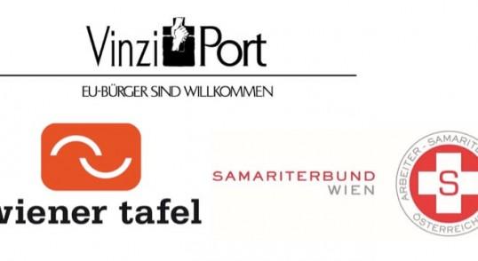 Logo VinziPort, Wiener Tafel, Samariterbund Wien