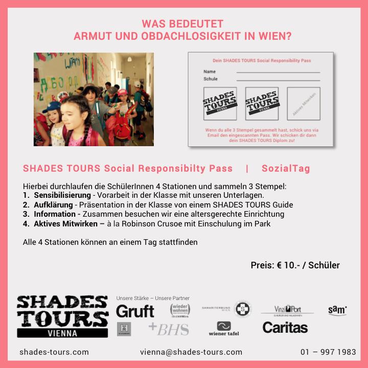 SHADES TOURS Social Responsibility Pass für Volksschüler